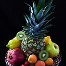 Still life of tropical fruits  by torishaa