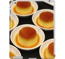 Crème Caramel dessert with caramelized sugar iPad Case/Skin
