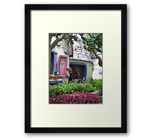 Sneaking Up on Minnie Mouse Framed Print