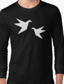 White Paper Cranes Long Sleeve T-Shirt