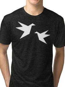 White Paper Cranes Tri-blend T-Shirt
