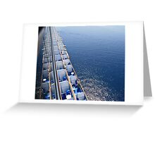 Best viewing from a big ship  Greeting Card