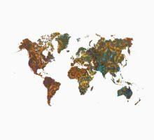 world map oriental Kids Tee