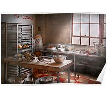 Baker - Kitchen - The commercial bakery  Poster