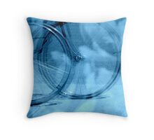 The Blue Wheel for Life  Throw Pillow