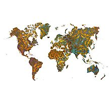 world map oriental Photographic Print