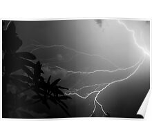 Lightning Storm in Florida Poster