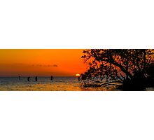 Sunset Sunbathers  Photographic Print
