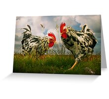 Roosters Greeting Card