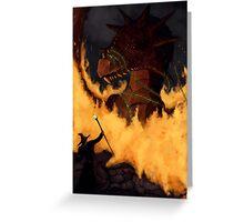 Dragon & Wizard  Greeting Card