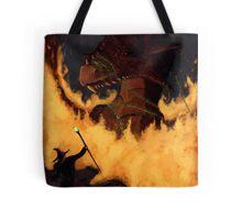 Dragon & Wizard  Tote Bag