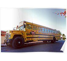 Yellow School Bus Poster