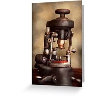 Optometry - Lens cutting machine Greeting Card