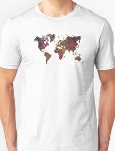 world map  Unisex T-Shirt