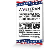 A Veteran Greeting Card