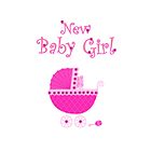 New Baby Girl card by Laura Redmond