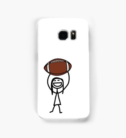 Football fan girl  Samsung Galaxy Case/Skin