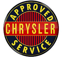 Chrysler Approved Service vintage sign Crystal version Photographic Print