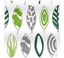 Grunge green Poster