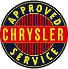 Chrysler Approved Service vintage sign Flat version by htrdesigns