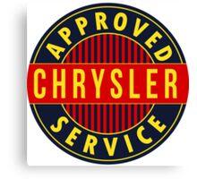 Chrysler Approved Service vintage sign Flat version Canvas Print
