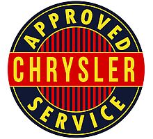 Chrysler Approved Service vintage sign Flat version Photographic Print