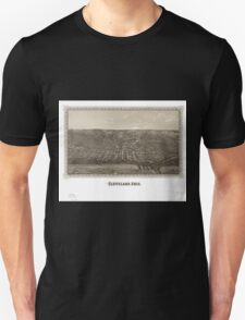 Panoramic Maps Cleveland Ohio Unisex T-Shirt