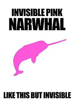 Invisible Pink Narwhal by jezkemp