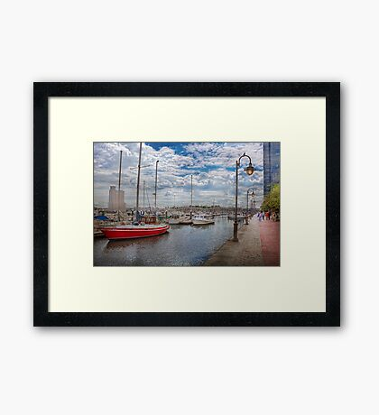 Boat - Baltimore, MD - One fine day in Baltimore  Framed Print