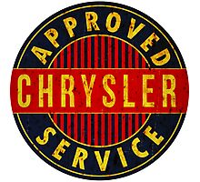 Chrysler Approved Service vintage sign Rusted version Photographic Print