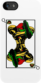 Samus Playing Card Queen by cadaver138