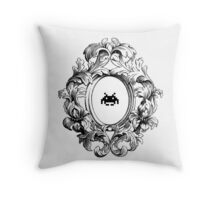 Rococo Invader Throw Pillow