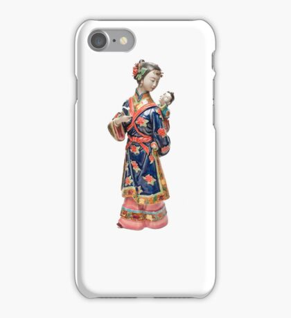 Oriental Lady with Child iPhone Case/Skin