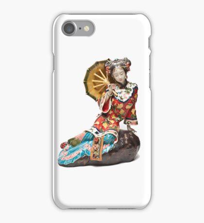 Oriental Lady Relaxing iPhone Case/Skin