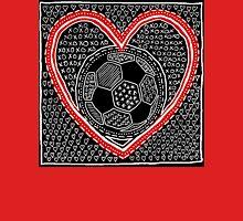 Heart Soccer Womens Fitted T-Shirt