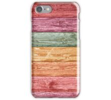 Color wooden wall iPhone Case/Skin