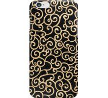Golden abstract arabesque iPhone Case/Skin