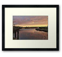 Pembroke Dusk Framed Print