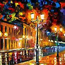 SLEEPING CITY - OIL PAINTING BY LEONID AFREMOV by Leonid  Afremov