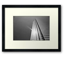 Sun over Bank of America Plaza Framed Print