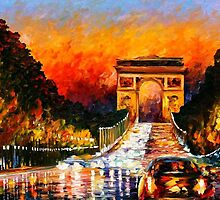 TRIUMPH ARC - OIL PAINTING BY LEONID AFREMOV by Leonid  Afremov
