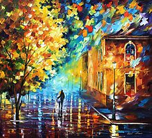 ROMANTIC NIGHT 2 - OIL PAINTING BY LEONID AFREMOV by Leonid  Afremov