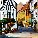 GERMANY - TOWN ON THE HILL - OIL PAINTING BY LEONID AFREMOV by Leonid  Afremov