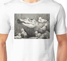 """Gator Gaggle"" Graphite Illustration Unisex T-Shirt"