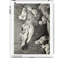 """Gator Gaggle"" Graphite Illustration iPad Case/Skin"