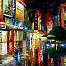 MOVIE THEATRE - OIL PAINTING BY LEONID AFREMOV by Leonid  Afremov