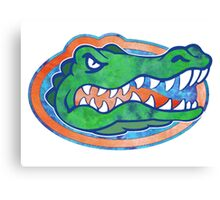 Florida Gator Tie Dye Canvas Print