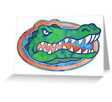 Florida Gator Tie Dye Greeting Card