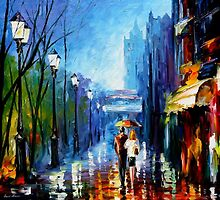 MEMORIES OF PARIS - OIL PAINTING BY LEONID AFREMOV by Leonid  Afremov