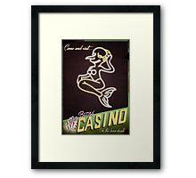 Burns' Casino Framed Print